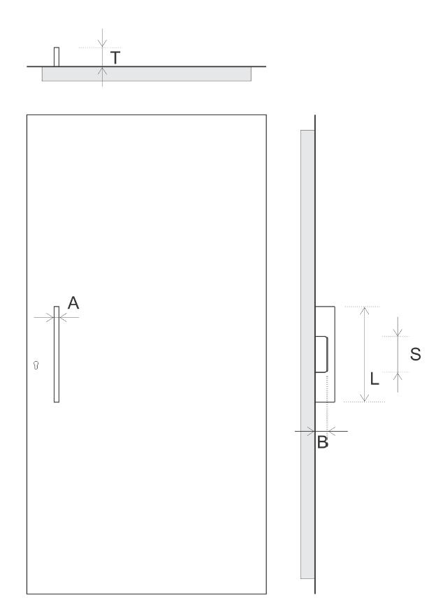 TORIX - aluminium deurgreep - DTR-P-03 SPECIFICATIES