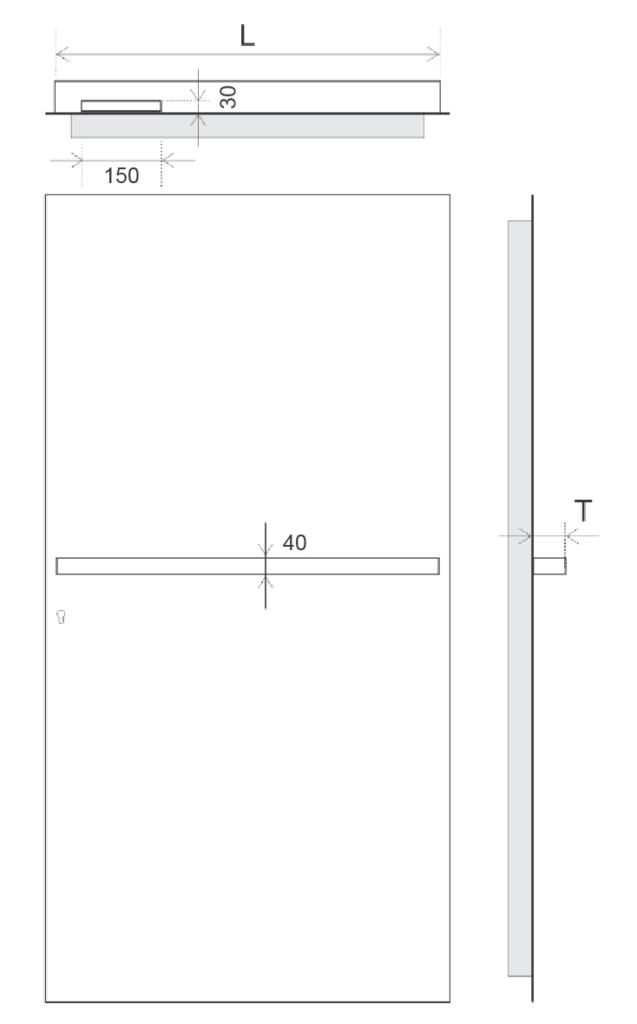 TORIX - aluminium deurgreep - DTR-B-02 SPECIFICATIES